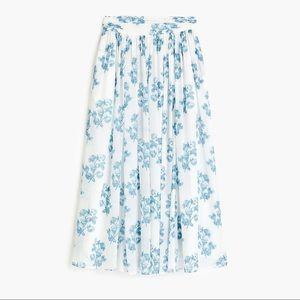 J. Crew Point Sur Chiffon Floral Maxi Skirt Size 0
